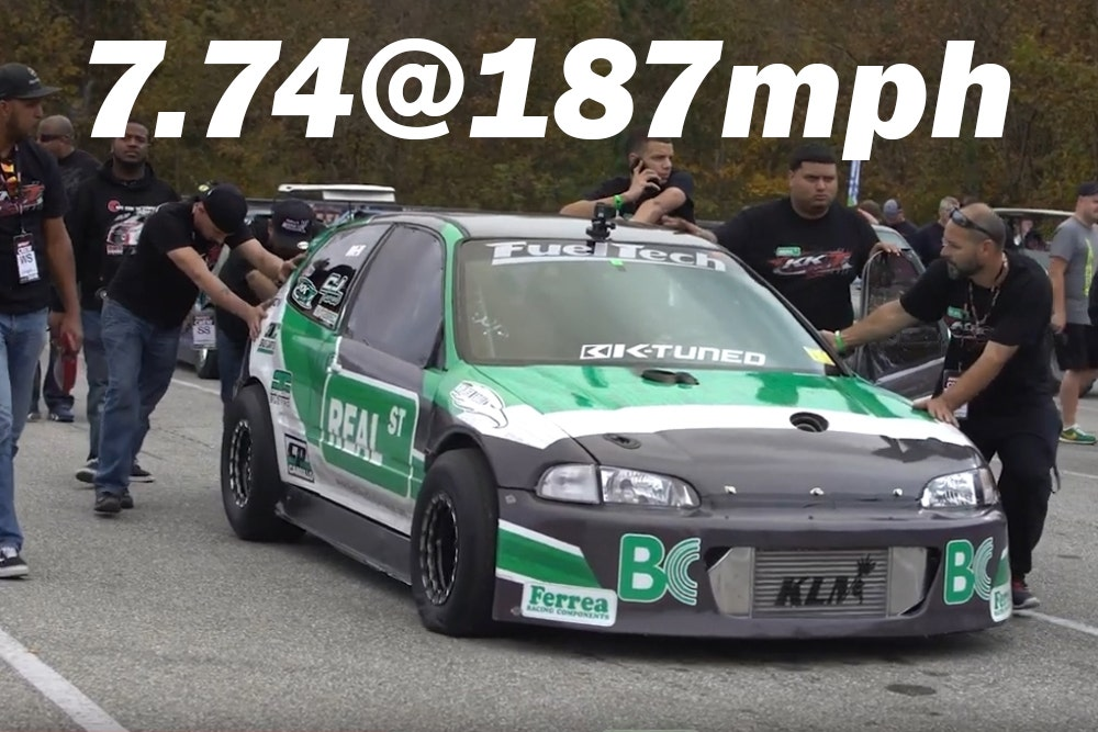 Real Street KKT AWD K-Series Civic goes 7.74@187mph